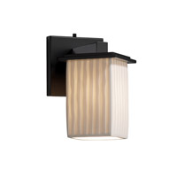 Justice Design Limoges Montana 1-Light Wall Sconce (Angled Bobeche) in Matte Black POR-8661-15-WFAL-MBLK