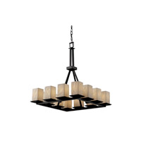 Justice Design Limoges Montana 12-Light Ring Chandelier (Tall) in Matte Black POR-8663-15-BANL-MBLK