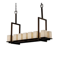 Justice Design Limoges Montana 14-Light Bridge Chandelier (Tall) in Dark Bronze POR-8664-15-WAVE-DBRZ photo thumbnail