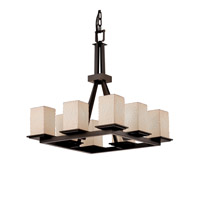 Justice Design Limoges Montana 8-Light Ring Chandelier in Dark Bronze POR-8666-15-BMBO-DBRZ