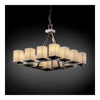 Justice Design Limoges Montana 12-Light Ring Chandelier (Short) in Brushed Nickel POR-8668-15-BMBO-NCKL