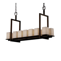 Justice Design Limoges Montana 12-Light Ring Chandelier (Short) in Dark Bronze POR-8668-15-WAVE-DBRZ
