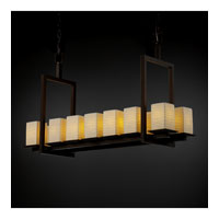 Justice Design Limoges Montana 14-Light Bridge Chandelier (Short) in Dark Bronze POR-8669-15-WAVE-DBRZ