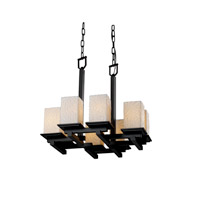 Justice Design Limoges Montana 8-Light Zig-Zag Chandelier in Matte Black POR-8670-15-BMBO-MBLK
