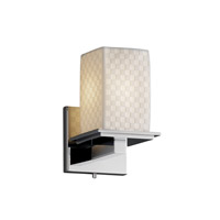 Justice Design Limoges Montana 1-Light Wall Sconce in Polished Chrome POR-8671-15-CHKR-CROM photo thumbnail