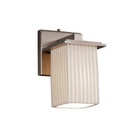 Justice Design Limoges Montana 1-Light Wall Sconce in Brushed Nickel POR-8671-15-PLET-NCKL