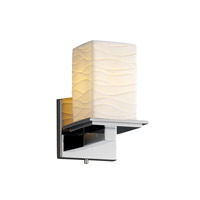Justice Design Limoges Montana 1-Light Wall Sconce in Polished Chrome POR-8671-15-WAVE-CROM