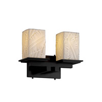 Justice Design Limoges Montana 2-Light Bath Bar in Matte Black POR-8672-15-BANL-MBLK