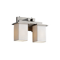 Justice Design Limoges Montana 2-Light Bath Bar in Brushed Nickel POR-8672-15-SAWT-NCKL