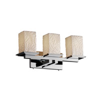 Justice Design POR-8673-15-BMBO-CROM Limoges 3 Light 21 inch Polished Chrome Bath Bar Wall Light in Bamboo photo thumbnail