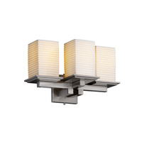 Justice Design Limoges Montana 3-Light Wall Sconce in Brushed Nickel POR-8676-15-SAWT-NCKL