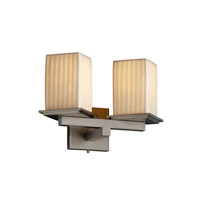 Justice Design Limoges Montana 2-Light Wall Sconce (Angled Bobeche) in Brushed Nickel POR-8680-15-WFAL-NCKL