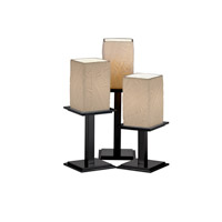 Justice Design Limoges Montana 3-Light Table Lamp in Matte Black POR-8697-15-BANL-MBLK