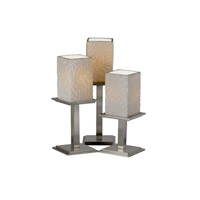 Justice Design Limoges Montana 3-Light Table Lamp in Brushed Nickel POR-8697-15-BMBO-NCKL