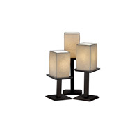 Justice Design Limoges Montana 3-Light Table Lamp in Dark Bronze POR-8697-15-LEAF-DBRZ