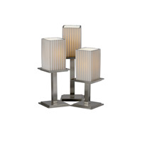 Justice Design Limoges Montana 3-Light Table Lamp in Brushed Nickel POR-8697-15-PLET-NCKL