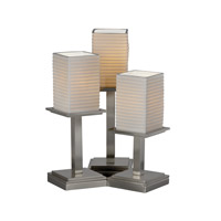 Justice Design Limoges Montana 3-Light Table Lamp in Brushed Nickel POR-8697-15-SAWT-NCKL