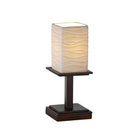 Justice Design Limoges Montana 1-Light Table Lamp (Short) in Dark Bronze POR-8698-15-WAVE-DBRZ
