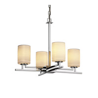 Justice Design Limoges Aero 4-Light Chandelier in Polished Chrome POR-8700-10-SAWT-CROM