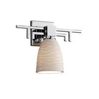 Justice Design Limoges Aero 1-Light Wall Sconce in Polished Chrome POR-8701-18-WAVE-CROM