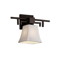 Justice Design Limoges Aero 1-Light Wall Sconce in Dark Bronze POR-8701-40-CHKR-DBRZ
