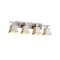 Justice Design Limoges Aero 4-Light Bath Bar in Brushed Nickel POR-8704-40-WFAL-NCKL