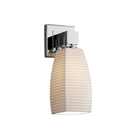 Justice Design POR-8705-65-SAWT-CROM Limoges 1 Light 6 inch Polished Chrome Wall Sconce Wall Light in Sawtooth, Tall Tapered Square photo thumbnail