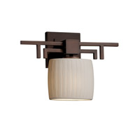 Justice Design Limoges Aero Ada 1-Light Wall Sconce in Dark Bronze POR-8711-30-WFAL-DBRZ
