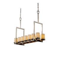 Justice Design Limoges Dakota 14-Light Bridge Chandelier (Tall) in Brushed Nickel POR-8764-10-BANL-NCKL photo thumbnail