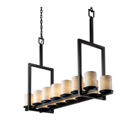 Justice Design Limoges Dakota 14-Light Bridge Chandelier (Tall) in Matte Black POR-8764-10-WAVE-MBLK