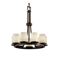 Justice Design Limoges Dakota 9-Light Ring Chandelier in Dark Bronze POR-8766-10-BANL-DBRZ