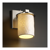 Justice Design Limoges Dakota 1-Light Wall Sconce in Brushed Nickel POR-8771-10-BANL-NCKL