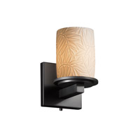 Justice Design Limoges Dakota 1-Light Wall Sconce in Matte Black POR-8771-10-BMBO-MBLK