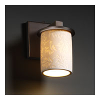 Justice Design Limoges Dakota 1-Light Wall Sconce in Dark Bronze POR-8771-10-LEAF-DBRZ