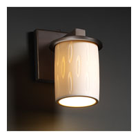 Justice Design Limoges Dakota 1-Light Wall Sconce in Dark Bronze POR-8771-10-OVAL-DBRZ