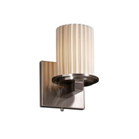 Justice Design Limoges Dakota 1-Light Wall Sconce in Brushed Nickel POR-8771-10-PLET-NCKL
