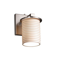 Justice Design Limoges Dakota 1-Light Wall Sconce in Brushed Nickel POR-8771-10-SAWT-NCKL