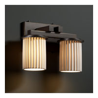Limoges 2 Light 13 inch Dark Bronze Bath Bar Wall Light in Pleats