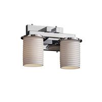 Justice Design POR-8772-10-SAWT-CROM-LED2-1400 Limoges LED 13 inch Polished Chrome Bath Bar Wall Light Dakota