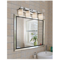 Justice Design POR-8774-10-BMBO-CROM Limoges 4 Light 29 inch Polished Chrome Bath Bar Wall Light in Bamboo