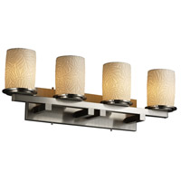Justice Design Limoges Dakota 4-Light Straight-Bar Bath Bar in Brushed Nickel POR-8774-10-BMBO-NCKL