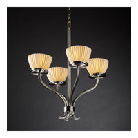 Justice Design Limoges Sonoma 4-Light Chandelier in Brushed Nickel POR-8780-35-PLET-NCKL