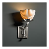 Justice Design Limoges Sonoma 1-Light Wall Sconce (Short) in Brushed Nickel POR-8781-35-PLET-NCKL