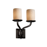 Justice Design Limoges Sonoma 2-Light Wall Sconce (Short) in Dark Bronze POR-8782-10-BMBO-DBRZ
