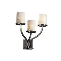 Justice Design Limoges Sonoma 3-Light Wall Sconce in Brushed Nickel POR-8783-10-WAVE-NCKL