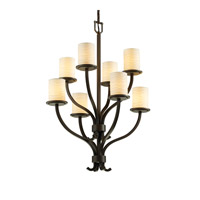 Justice Design Limoges Sonoma 8-Light 2-Tier Chandelier in Dark Bronze POR-8788-10-WAVE-DBRZ