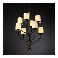 Justice Design Limoges Sonoma 8-Light 2-Tier Chandelier in Dark Bronze POR-8788-10-WFAL-DBRZ