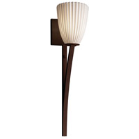 Limoges Collection 1 Light 5 inch Dark Bronze Wall Sconce Wall Light in Pleats, Fluorescent, Tapered Cylinder