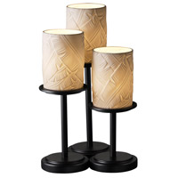 Justice Design Limoges Dakota 3-Light Table Lamp in Matte Black POR-8797-10-BANL-MBLK