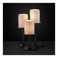 Justice Design Limoges Dakota 3-Light Table Lamp in Matte Black POR-8797-10-OVAL-MBLK photo thumbnail